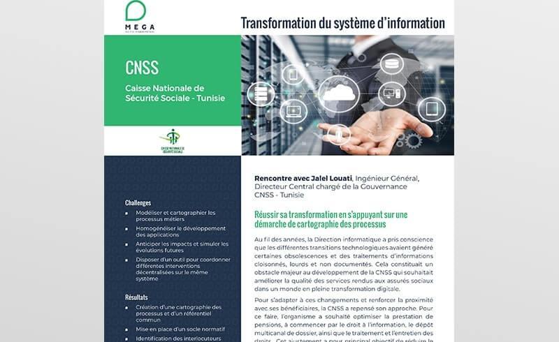 CNSS : Réussir sa transformation en s'appuyant sur une démarche de cartographie des processus