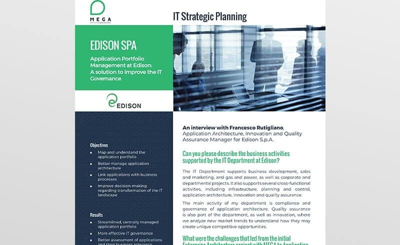 Application Portfolio Management at Edison: A solution to improve the IT Governance