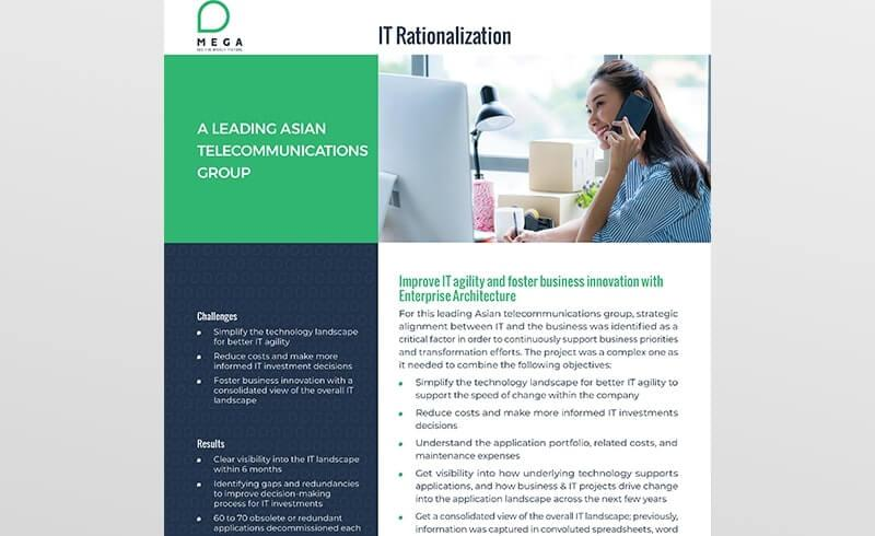 A Leading Asian telecommunications group undertakes IT rationalization initiative
