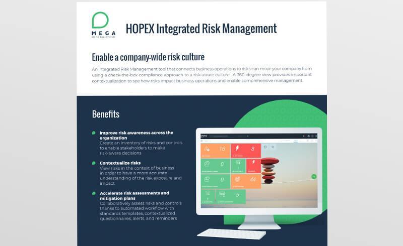 HOPEX Integrated Risk Management