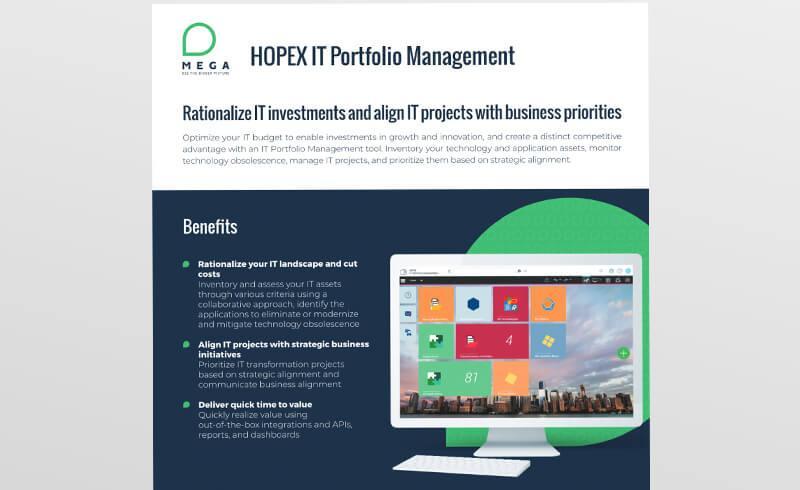 HOPEX IT Portfolio Management