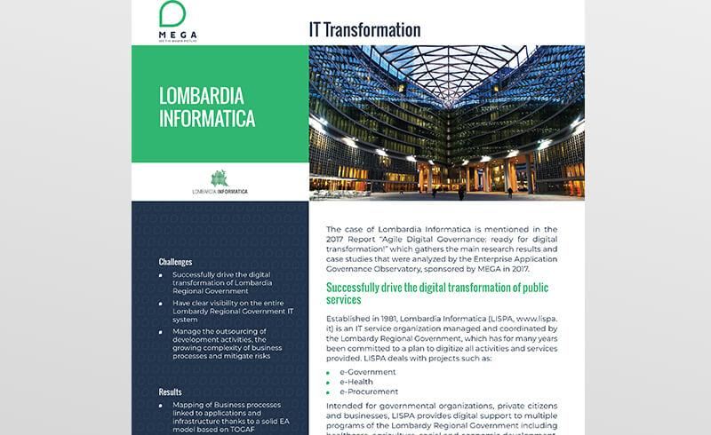 Lombardia Informatica: successfully drive the digital transformation of public services