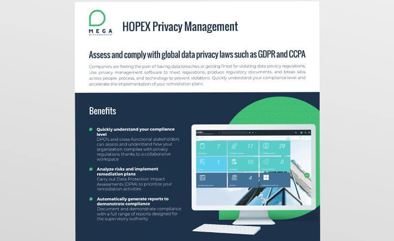 HOPEX Privacy Management