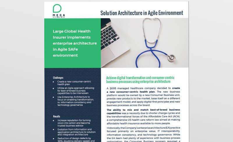 Large Global Health Insurer implements enterprise architecture in Agile SAFe environment
