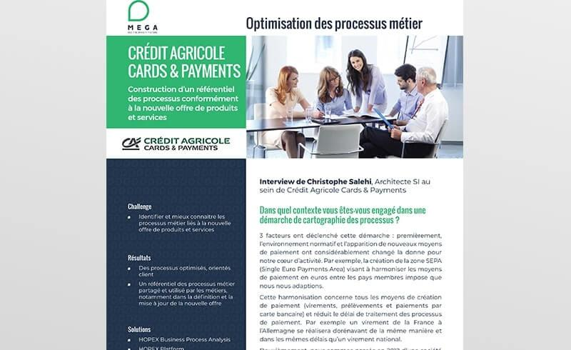 Crédit Agricole cards & Payments defines a new products and services offering using a process repository