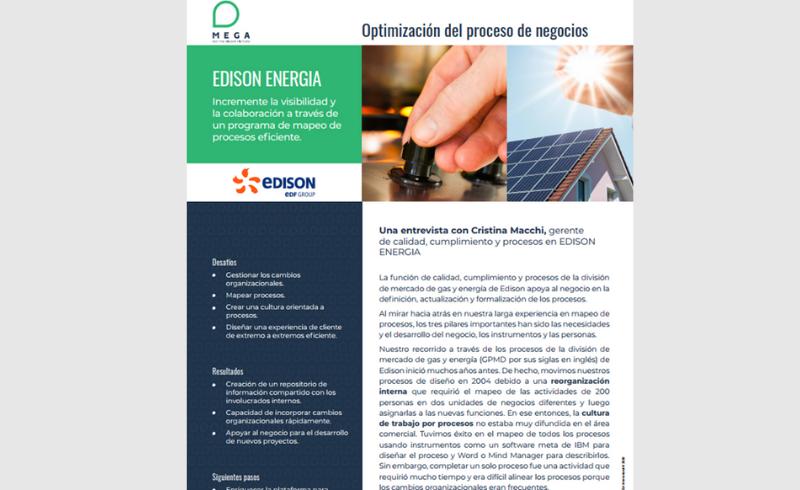 Caso de éxito Edison | Optimización del Proceso de Negocios