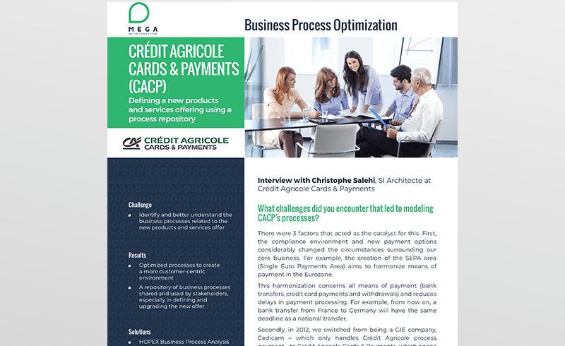 CACP : Construction d'un référentiel des processus conformément à la nouvelle offre de produits et services