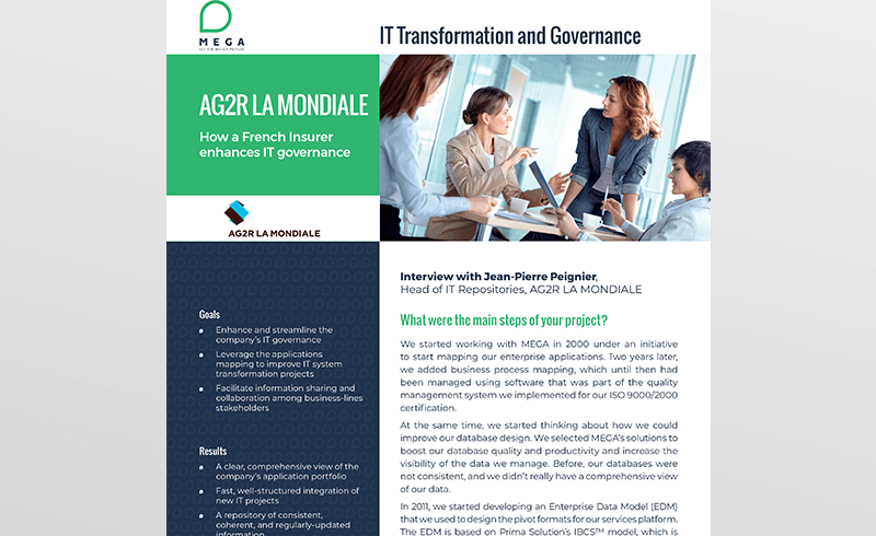 AG2R La Mondiale: How a French Insurer enhances IT governance