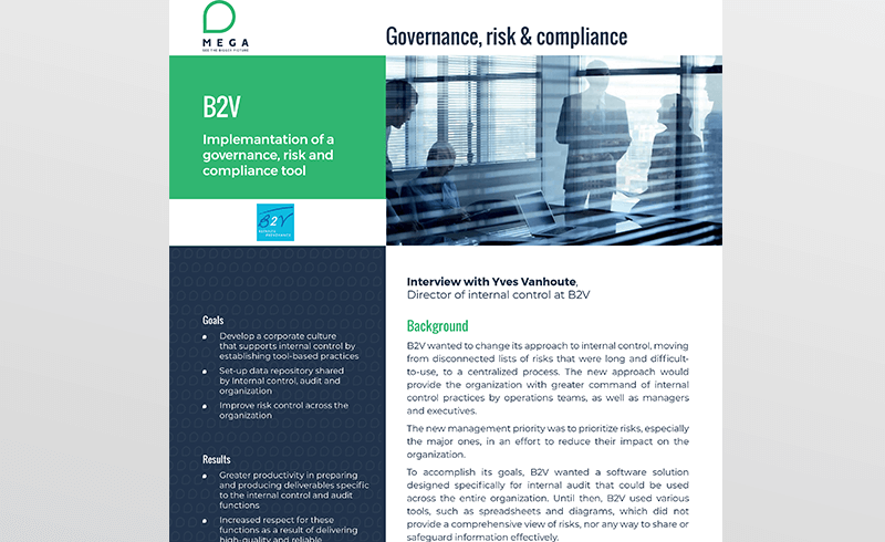 B2V: Implemantation of a governance, risk and compliance tool
