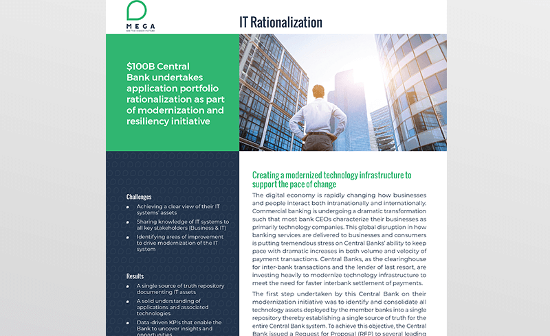 Central Bank undertakes application portfolio rationalization as part of modernization and resiliency initiative