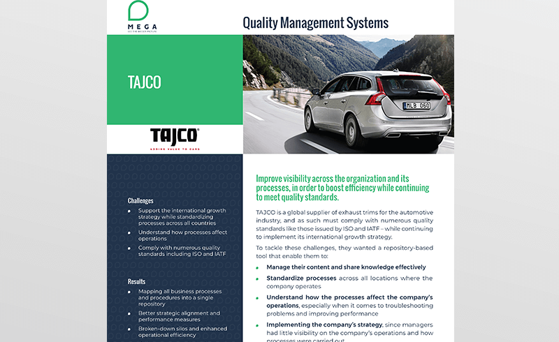 Tajco: Improve visibility to boost efficiency
