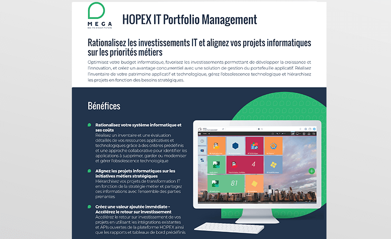 HOPEX IT Portfolio Management