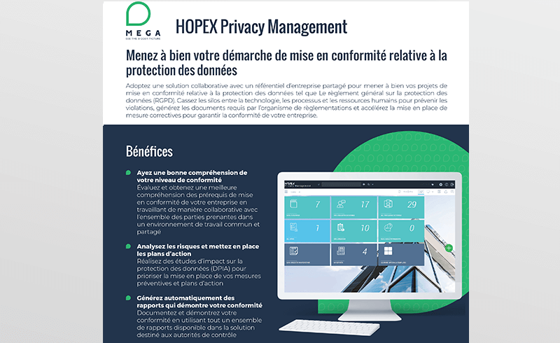 HOPEX Privacy Management
