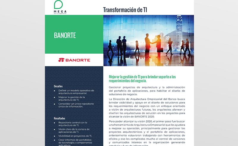 Banorte: Mejorar la gestión de TI para brindar soporte a los requerimientos del negocio