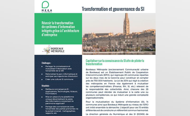 Bordeaux Métropole - Capitaliser sur la connaissance du SI pour piloter la transformation