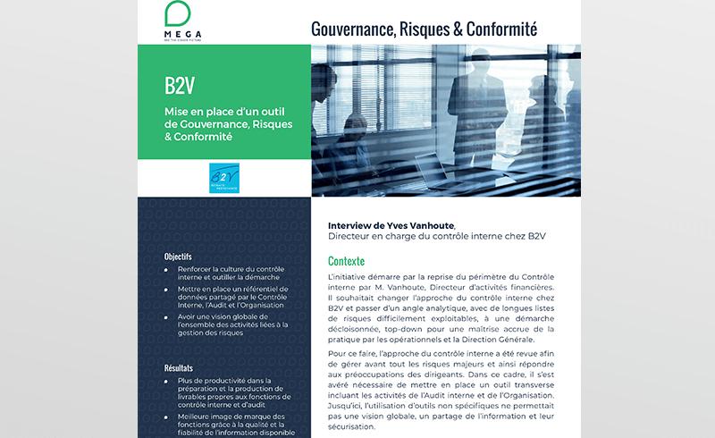 B2V : Mise en place d'un outil de Gouvernance, Risques & Conformité